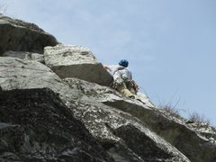 Rock Climbing Photo: When you get to the bright white block near the to...