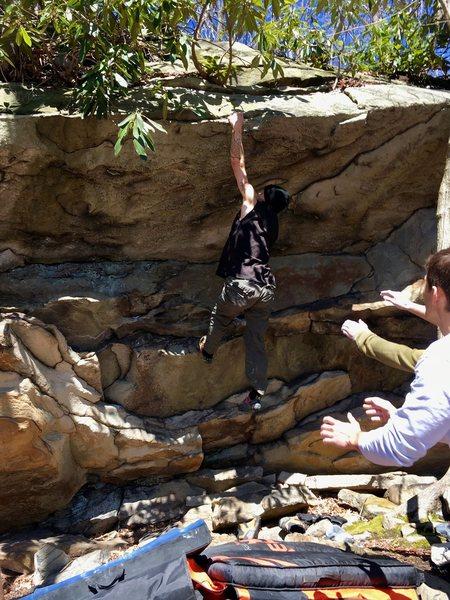 Rock Climbing Photo: Sticking the dyno