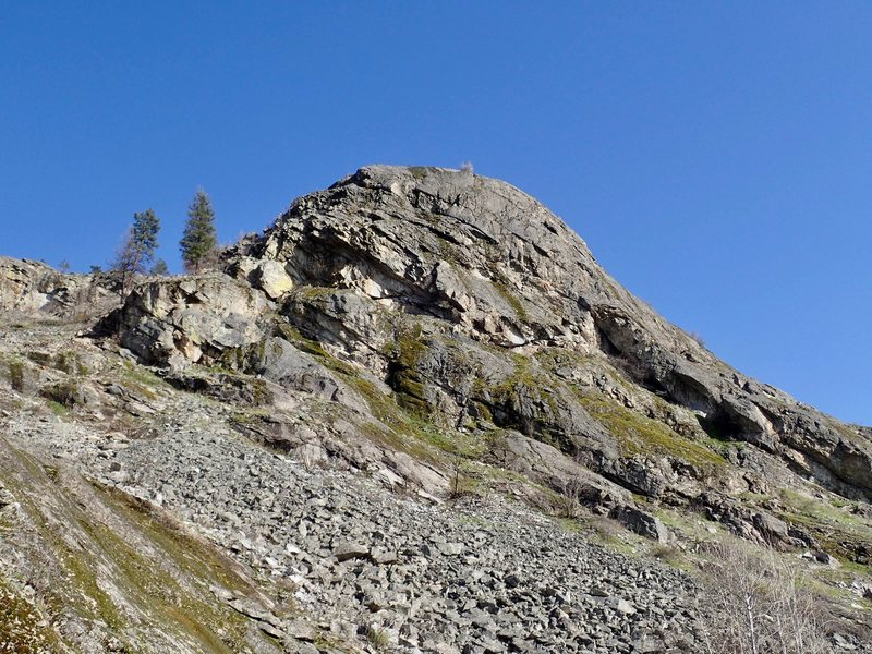 Rock Climbing Photo: Lower West Face - South Side from the NW (parking ...