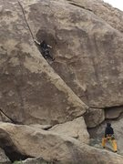 Rock Climbing Photo: Jon Hartmann onsighting Friendly Hands with calm p...