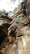 Rock Climbing Photo: There are more bolts and an anchor higher up, not ...
