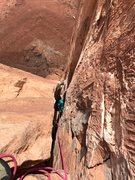 Rock Climbing Photo: Your off-width is my squeeeeeze chimney, 3rd pitch...