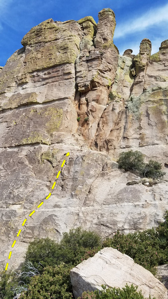 Rock Climbing Photo: Photo showing the route.