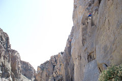 Rock Climbing Photo: Bryson climbs Croatalusley Challenged in the Owens...