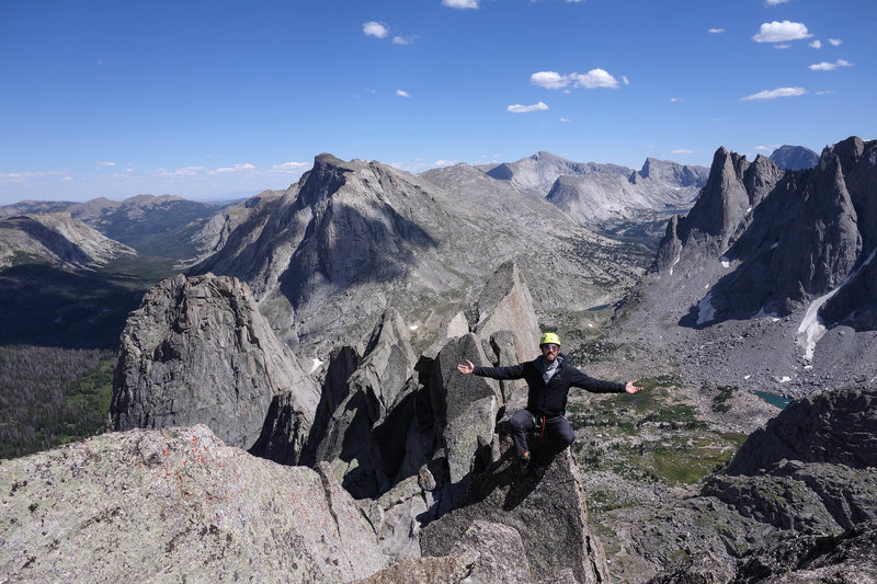 On summit of Wolf's Head in the Cirque
