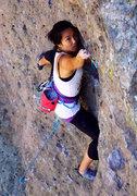 Rock Climbing Photo: Hannah clipping.  Apr 2017.