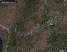 Rock Climbing Photo: gpx track from Waterbury Rd to Athena to Whiteston...
