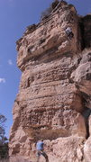 Rock Climbing Photo: Mr. Slate, The Pit, Flagstaff, Arizona