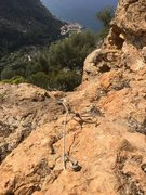 Rock Climbing Photo: Looking down at the last few feet of the approach ...
