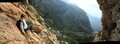 Rock Climbing Photo: It felt about this steep just standing in the bela...