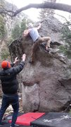 Amazing climbing. Thoughtful movement and it's not quite over after the crux.