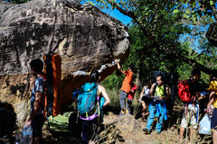 Rock Climbing Photo: T-Rex boulder has a lot of hard classic lines and ...