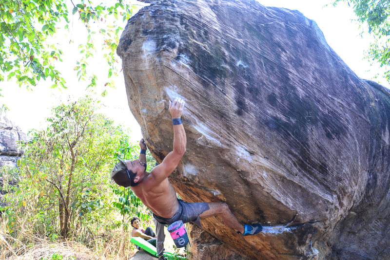 Rock Climbing Photo: Japanese climber on Pinker Tips Direct V10. Photo ...