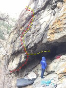 Red line: The Silence, V9/10. <br />Yellow line: Bad Wolf, V4.