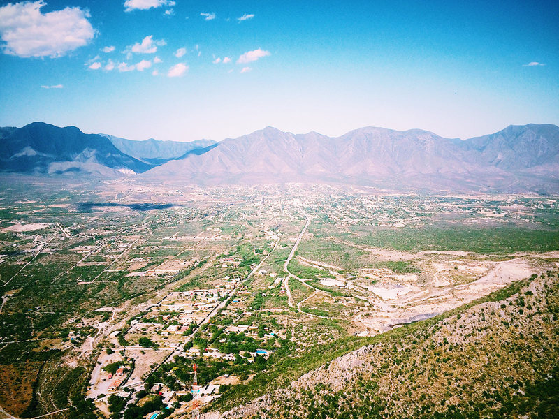 The view of Hidalgo from the top out of Off the Couch.