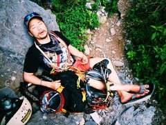 Rock Climbing Photo: There is a nice comfy rock that is good for sittin...