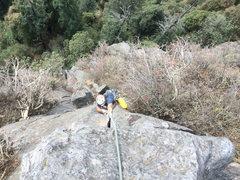 Rock Climbing Photo: Mauricio Herrera Cuadra on the 3rd pitch of Las Da...