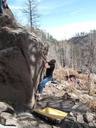 Rock Climbing Photo: Ed Strang on the FA