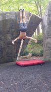 Rock Climbing Photo: BatHanging