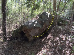 Rock Climbing Photo: lay under the biggest overhang, left foot way up i...