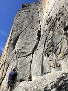 Rock Climbing Photo: Josh at the five and dime cliff, Yosemite.