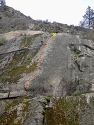 Rock Climbing Photo: A Sheep No More topo