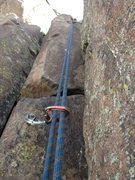 Rock Climbing Photo: The 2 bolts next to the perfect gear crack on the ...