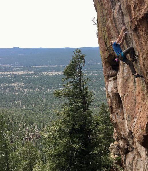 Rock Climbing Photo: Mikael paddling through the sloper rail on The Her...