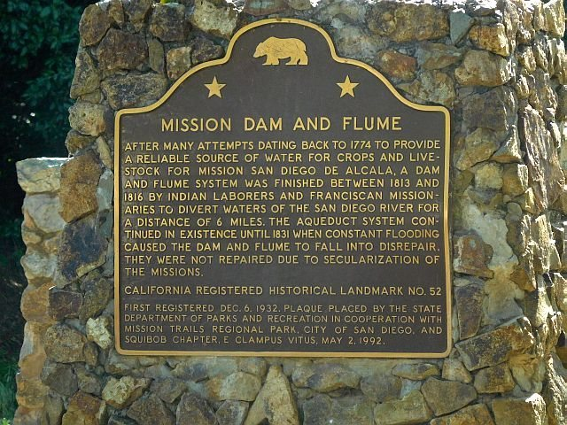 Mission Dam and Flume display, Mission Gorge