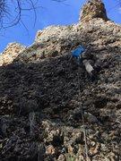 Rock Climbing Photo: Noah Stevens on the FA of Little Man Sushi. The ro...