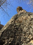 Rock Climbing Photo: Noah Stevens at the chain anchors of Guano Tempura