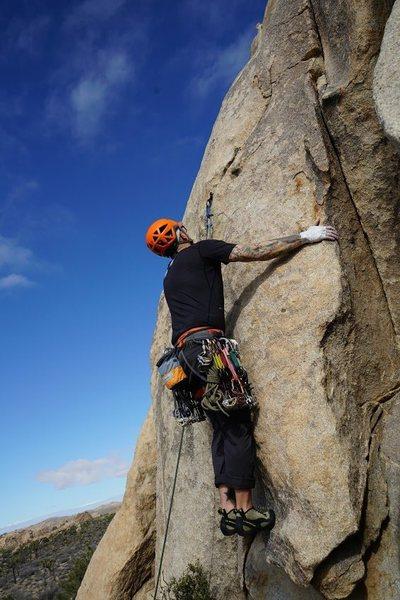 "Rock Climbing Photo: The 5.9 ""Bear Hug"" direct start of Smoot..."
