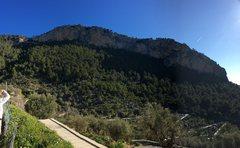 Rock Climbing Photo: Pano of the whole Alaro crag