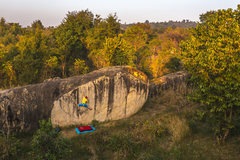 Rock Climbing Photo: Moby Dick boulder. Photo by Gabriel Jecan.
