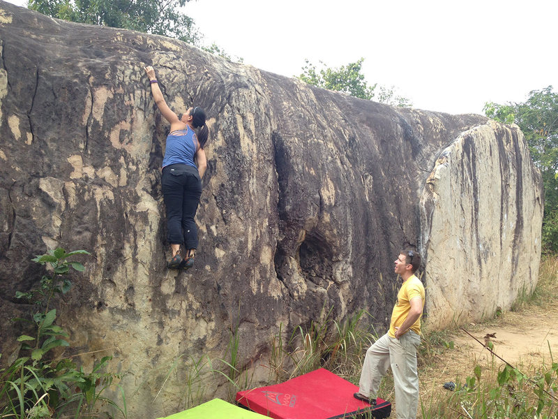 Warm up at Moby Dick boulder