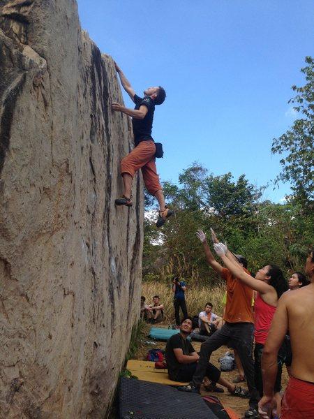 Rock Climbing Photo: Sending the route
