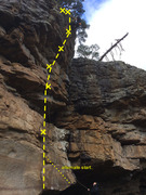 Rock Climbing Photo: Didnt get this clean..two hung it... but got to th...