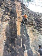 Rock Climbing Photo: belaying my bud ryan up the classic GSOE. Polished...