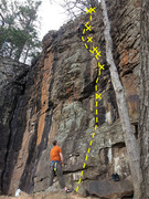 Rock Climbing Photo: laybacked the flake. The rest of my crew worked th...