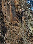 Rock Climbing Photo: post crux jug bash out