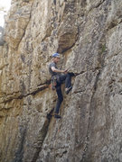 Rock Climbing Photo: I tried a kneebar on HBPP. It blew out and I damn ...