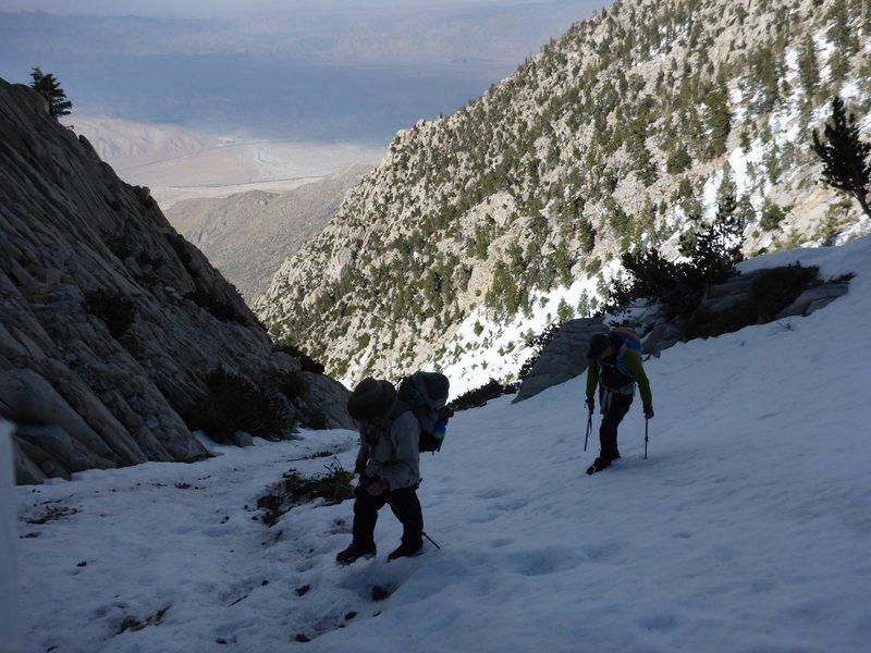 Joe and I nearing the summit