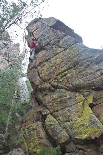 Rock Climbing Photo: Gokul climbing Dalai Lama.