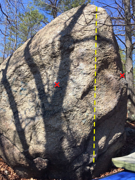 Rock Climbing Photo: Deliverance problem.