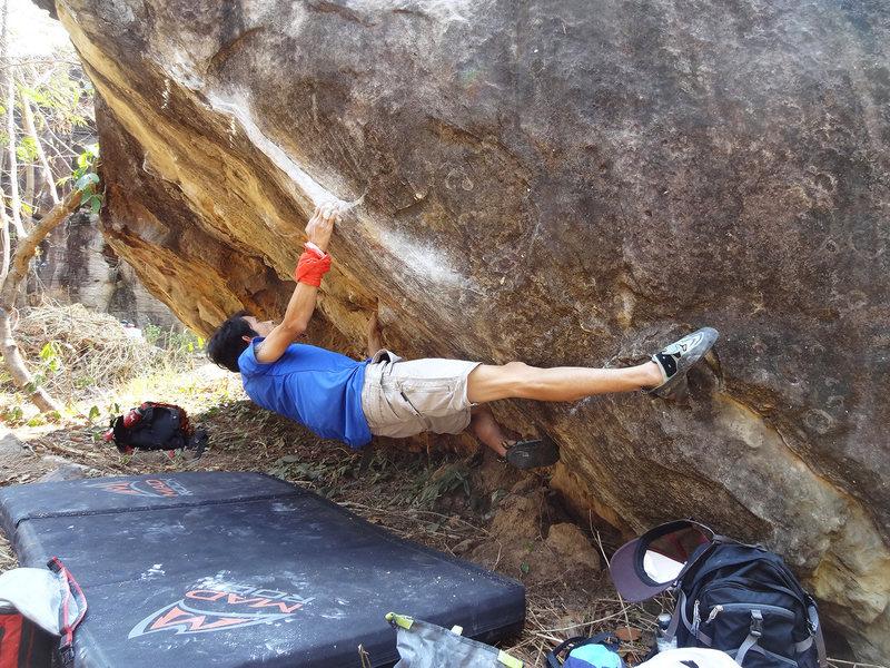 Rock Climbing Photo: Ant Man V6, Black and White Boulder