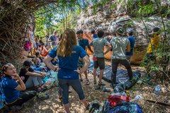 Rock Climbing Photo: Group of climbers ready to climb at His Chang Si, ...