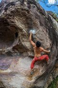 Rock Climbing Photo: Almost there. Happy buddha V9