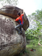 Rock Climbing Photo: Long Boulder