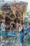 Rock Climbing Photo: Egg Shell Boulder, Upper Meadow