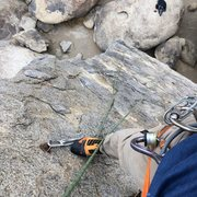 Rock Climbing Photo: Rope solo on the sharks fin